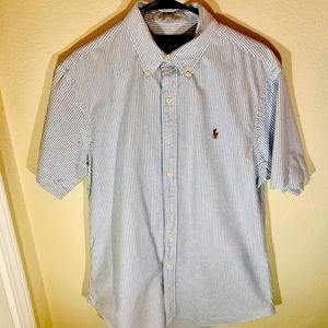 Polo by Ralph Lauren Mens Large Short Sleeve Blue